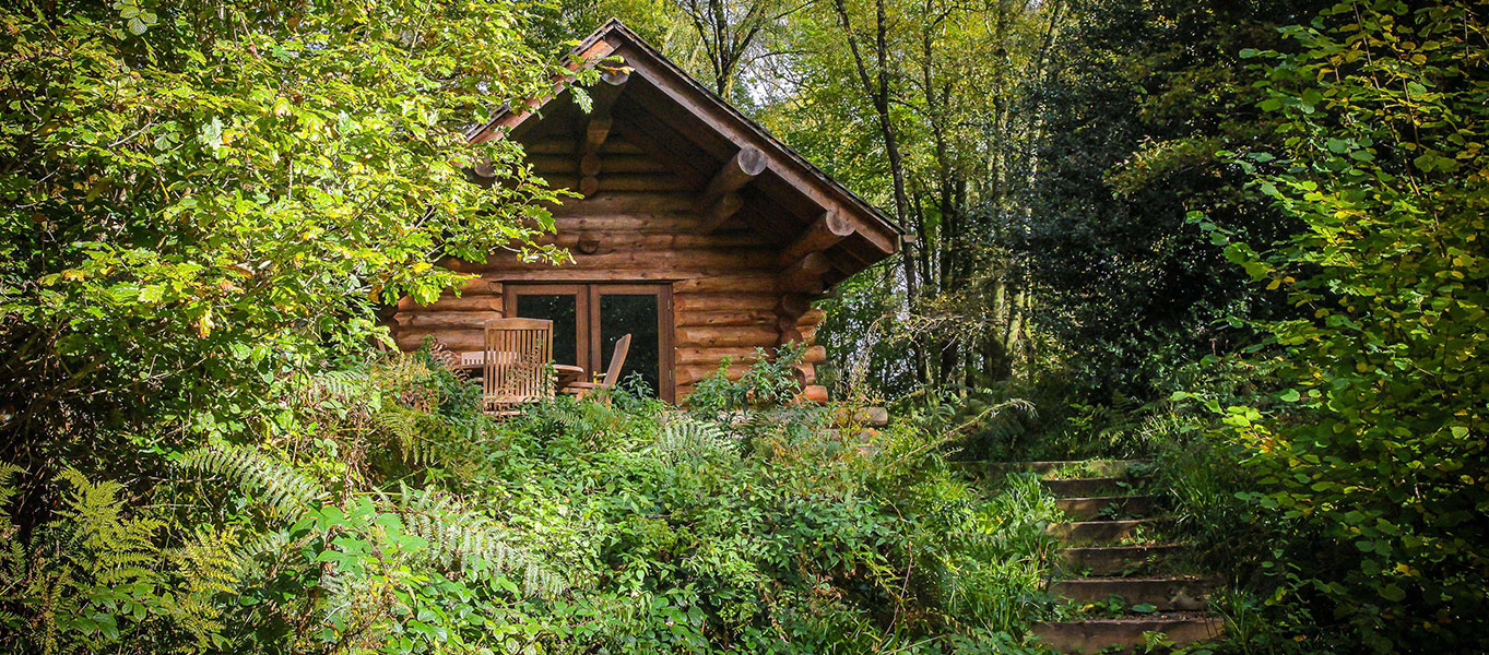 Shank Wood Log Cabin Secluded Log Cabin Holiday With Hot Tub