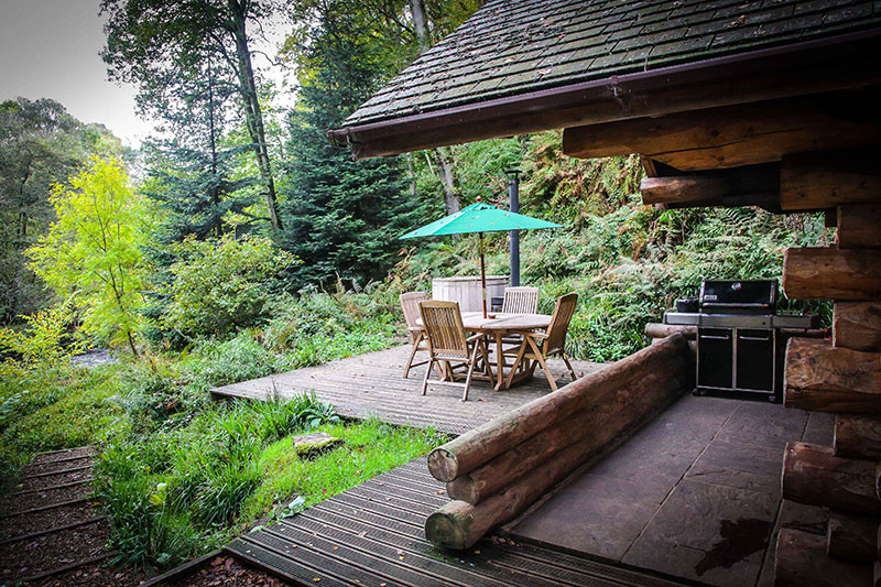 Shank Wood Log Cabin Secluded Log Cabin With Hot Tub