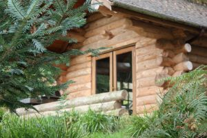 log cabins with private hot tubs